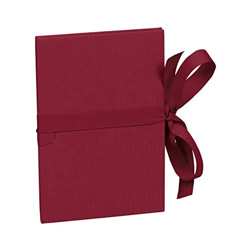 Semikolon (353207) Leporello Classico burgundy (dunkel-rot) - Für 14 Bildern im Format 10 x 15 cm - Ziehharmonika-Fotobuch - Format: 12,2 x 17,7