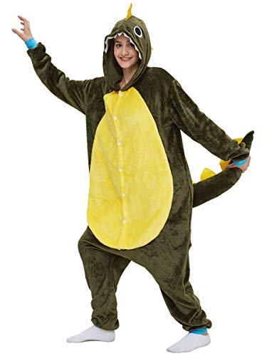 Erwachsene Unisex Einhorn Tiger Lion Fox Onesie Tier Schlafanzug Cosplay Pyjamas Halloween Karneval Kostüm Loungewear Dragon L 165-175cm