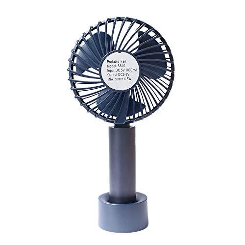 SODIAL Ventilador Ventilador de Mano PortáTil Ventilador Recargable USB Ventilador de Mano de Viaje Al Aire Libre con Enfriador de Aire de Escritorio