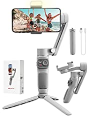 $68 » Zhiyun Smooth Q3 Handheld 3-Axis Smartphone Gimbal Stabilizer with Grip Tripod Vlog LED Fill Light Compatible with iPhone 12 11 PRO MAX X XR XS Smartphone with Gesture Control,Object Tracking