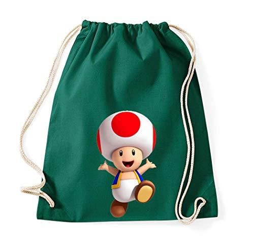 Youth Designz Baumwolltasche Turnbeutel Tasche Modell Toad - Flaschengrün