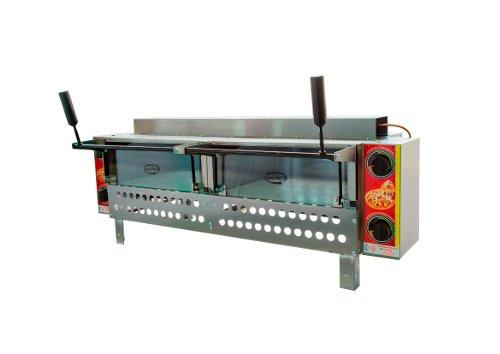 Forno Pizza Industrial à Gás 60x80 em Aço Inox Conjugado com Pedra Refratária e Infravermelho