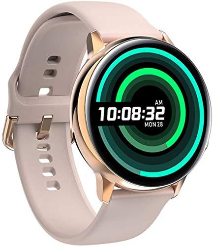 Reloj inteligente con pantalla de 1 de 19 pulgadas, monitor de actividad física, podómetro, pulsera de marcado personalizado, mensaje push Smart Recordatorio IP68, resistente al agua, 230 mAh-rosa