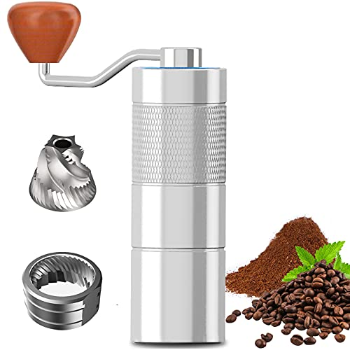 home coffee grinders Manual Coffee Grinder with Adjustable Settings, AYUSEB Hand Coffee Grinder Capacity 30g, Stainless Steel Conical Burr Coffee Grinders, Faster Grinding Efficiency to Coarse for Office Home Camping