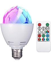 ELEGIANT Discobol, E27, RGB, LED-feestverlichting, lichteffecten, podiumlampen, gloeilampen, feestverlichting, lamp, afstandsbediening, voor verjaardagsfeest, bruiloft, Kerstmis, Halloween (batterij inbegrepen)
