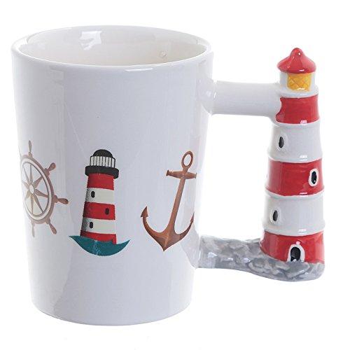Tasse mit Leuchtturm Griff