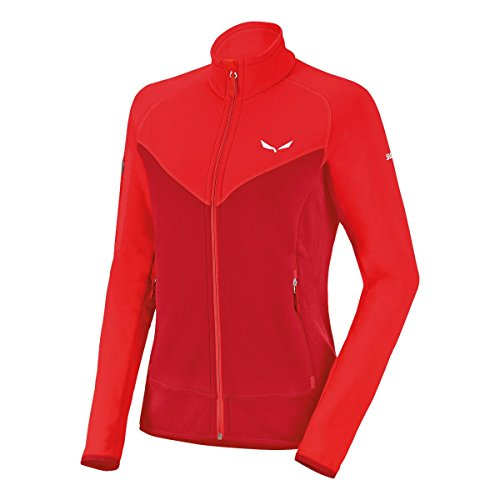 Salewa Ortles PTC W Fz - Sweat-Shirt pour Femme, Couleur Rouge, Taille 48/42