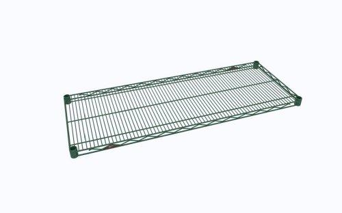METRO 1830NK3 Super Erecta METROseal 3, Steel Industrial Wire Shelf with Microban, 800 lb. Capacity, 1' Height x 30' Width x 18' Depth (Pack of 4), Green