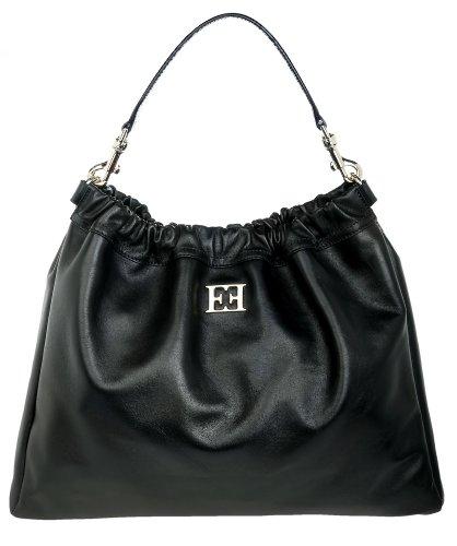Escada Femmes Sac portes epaule Shopping bag noir ESCA-07