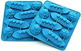 HelpCuisine Moldes de silicona para hacer hielos/Moldes en forma de Iceberg y barco, 24 meses de Garantia, Juego de 2pz