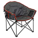 Dcplan-Folding Camping Chair, Brazil Chair, Oversized Padded Moon Round Saucer Chairs Outdoor for Camp Lawn Hiking Fishing