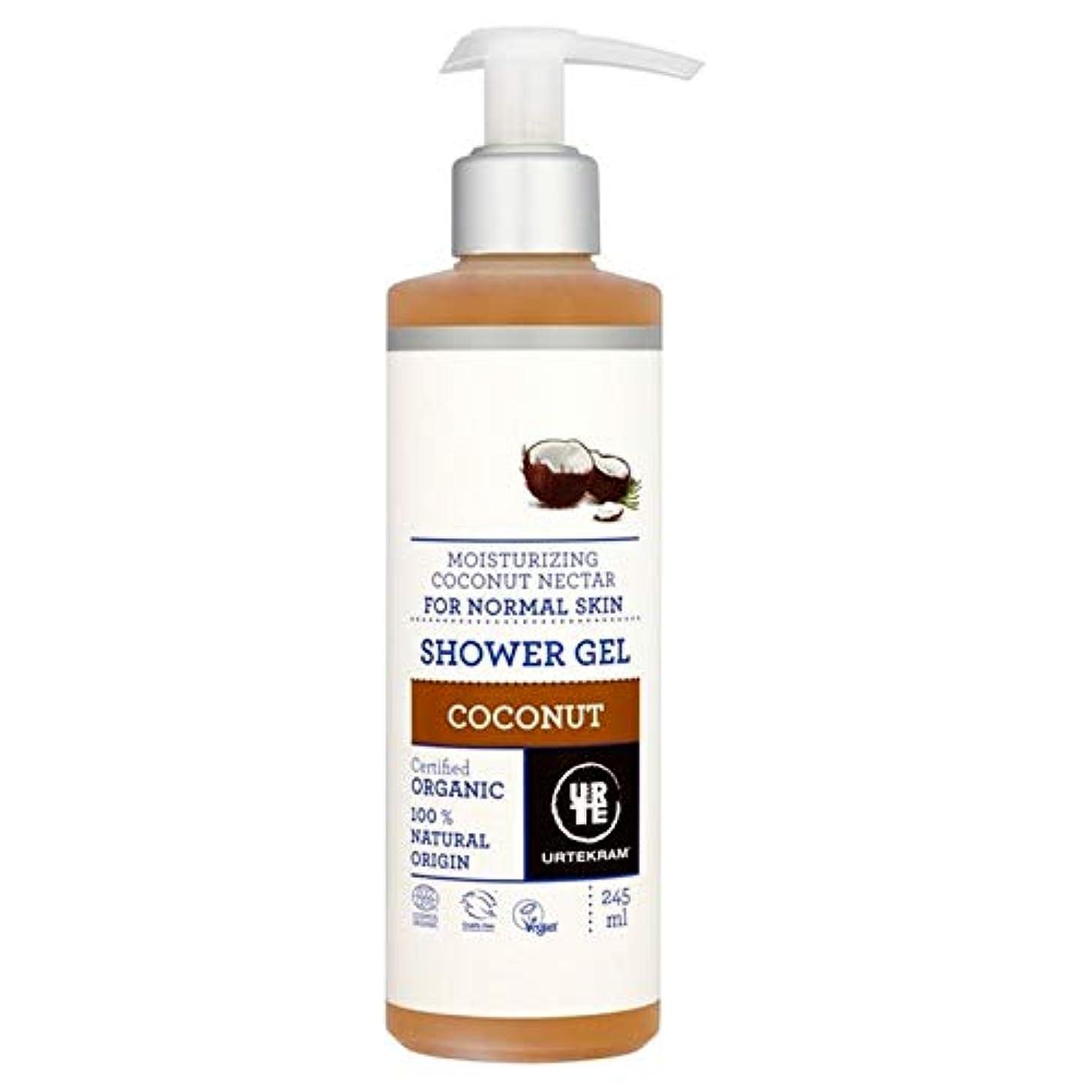 キャンプシャーロットブロンテ全能[Urtekram] Urtekramココナッツポンプシャワージェル245ミリリットル - Urtekram Coconut Pump Shower Gel 245ml [並行輸入品]