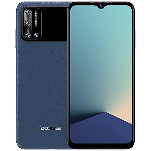 Teléfonos Moviles Libres, DOOGEE N40 Pro(2021) Smartphone Libre, 6.52 Inch, 6GB + 128GB Octa-Core,6380mAh 24W Carga Rápida, 20MP Quad Cámara Moviles Libres Baratos, Android 11, 4G Dual SIM, GPS (Azul)