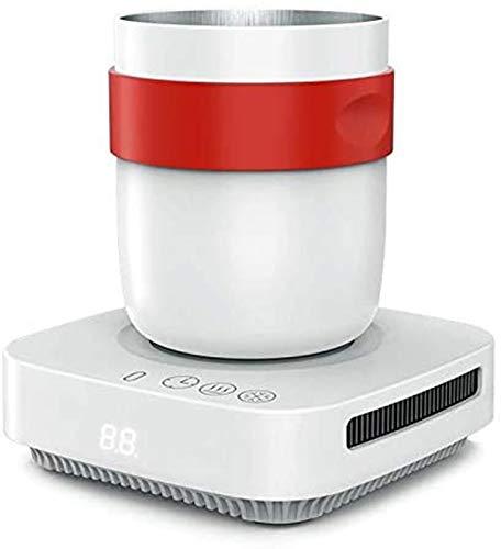 Calentador de Tazas de refrigeración de 12 V, Taza de Calentamiento de enfriamiento rápido, Taza termostática Inteligente para Posavasos de Leche Caliente, latas de Bebidas, 450 ml