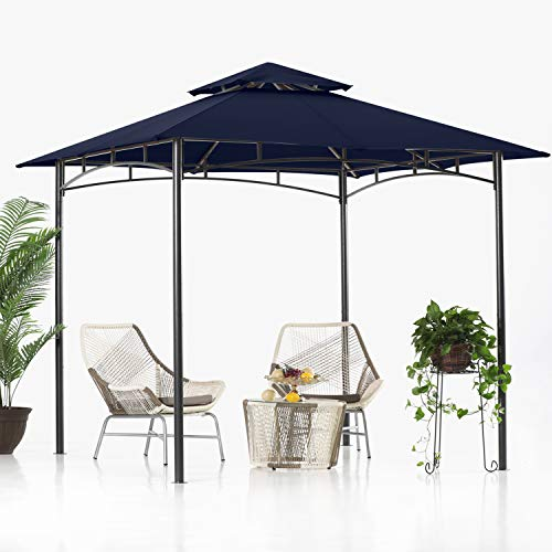 ABCCANOPY 8'x 8' Gazebo Double Tiered, Outdoor Gazebo Canopy, Navy Blue