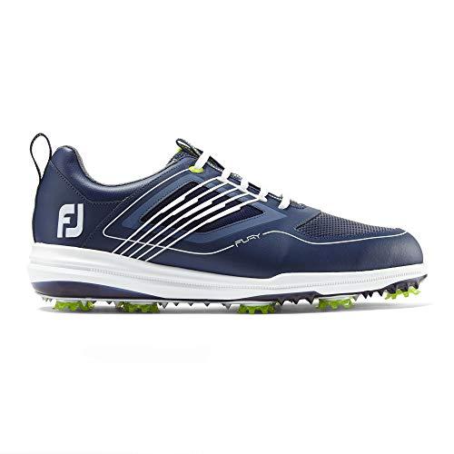 FootJoy Men's Fury Golf Shoes Blue 10 M, Navy/White, US
