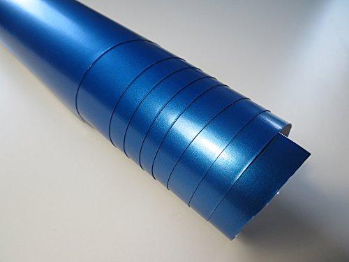 Blau Metallic Matt Autofolie 5 x 1,52 m selbstklebend mit Luftkanälen (5,66€/qm) größere Mengen ab 4,06€/qm