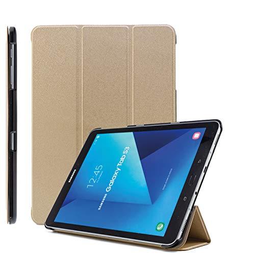 COOVY Funda Ultra Delgada para Samsung Galaxy Tab S2 9.7 SM-T810 SM-T813 SM-T815 SM-T819 Carcasa Protectora Inteligente con Sistemas de Soporte y Auto-sueño/Estela | Oro