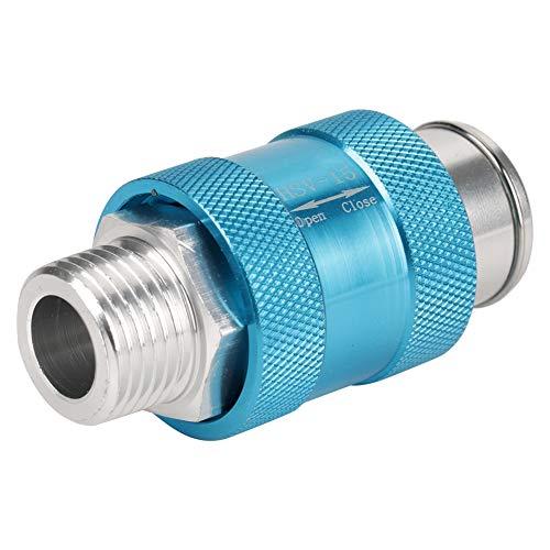 Handsteuerventile Akozon Pneumatic Valve HSV-15 Aluminum G1/2 Thread Air Flow Control Hand Operated Slide Valve Mechanische Ventil Schiebeventil pneumatische Schalter Ventilwerkzeuge