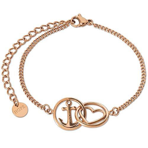 Tom Hope Love&Hope L&H Rose Gold Armband Silber TM0382