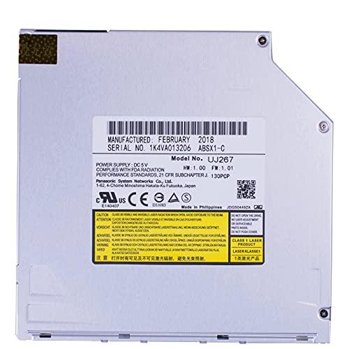New Super Slim Panasonic UJ267 UJ-267 6X BD-R BD-RE DL TL BDXL 100GB Blu-ray Burner, 8X DVD+-R Writer CD-RW Laptop Internal 9.5mm SATA Slot-in Optical Drive