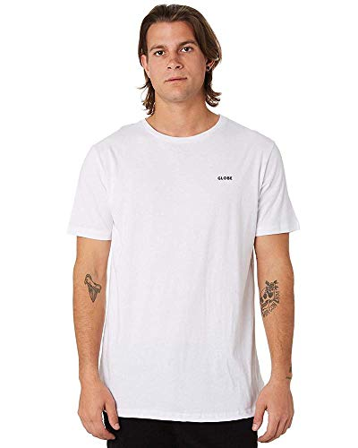 Globe Zone Tee T-Shirt pour Homme Blanc Taille XS
