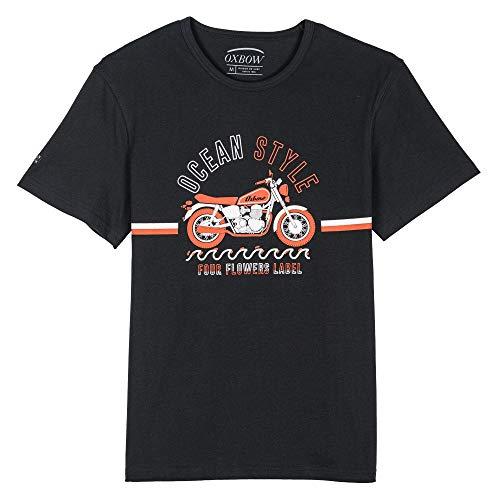 Oxbow M2TETROK Tee Shirt Homme Noir FR : S (Taille Fabricant : S)