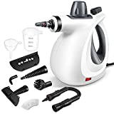 Handheld Steam Cleaner, Pressurized Steam Cleaner with 11 Piece Accessory Set for Home Use, Multi-Surface All Natural Steamer for Cleaning Carpet