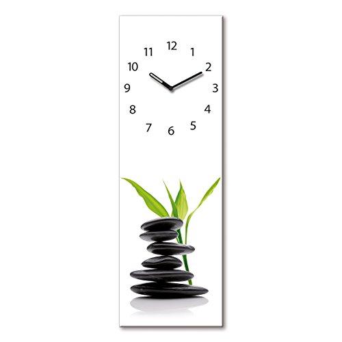 Eurographics Horloge Murale décorative en Verre, Verre, Green Shelter, 20 x 60 cm, 60x20x3.5 cm