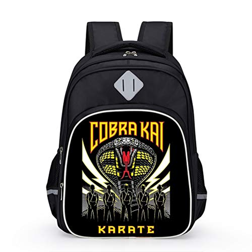 Cobra Kai Popular Styles Backpack Sports Daypack Girls Compact and Lightweight School Bag Boys Multicolor Backpack Children Casual Travel Bag Backpack Kids (Color : A08, Size : 31 X 20 X 42cm)