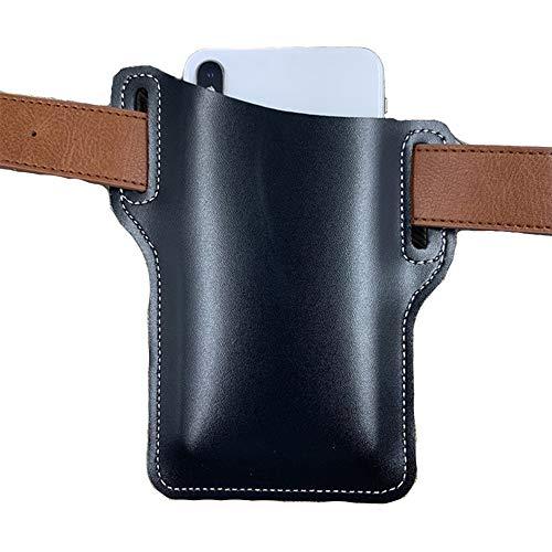 Retro Handy Ledertasche Gürteltasche, Handyträger Gürteltasche, Mode Pu Leder Taille Gürtelschlaufe Handy Schutzhülle Tasche Holster (Blau)