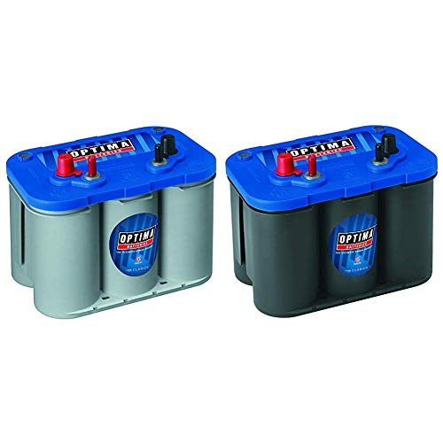 Optima Batteries 8016-103 D34M BlueTop Starting and Deep Cycle Marine Battery + Batteries 8006-006 34M BlueTop Marine Starting Battery