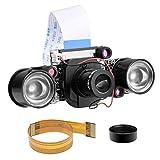 Longruner Camera Module for Raspberry Pi 3 Model B B+ A+ 2 1 5MP 1080p OV5647 Sensor HD Video Webcam Night Vision Camera (LC26-1)