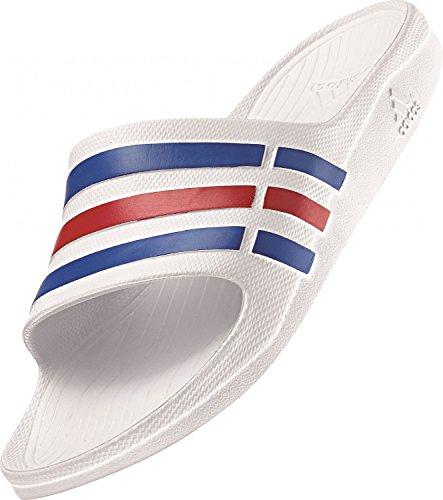 Adidas Duramo Slide, Ciabatte da Unisex Adulto, Bianco (White/True Blue/Red), 39 EU (6 UK)