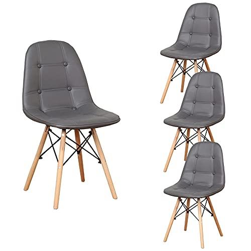 BenyLed Set di 4 sedie da scrivania Sedia per sala da pranzo Sedie da pranzo moderne semplici in...