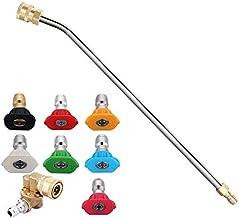 LIXUDECO Nozzle 2 Set accessoires for hogedrukreinigers Kit: 1 Set Hogedrukreiniger Gutter Rod & 1 Set Wasmachine van de M...