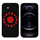 Sharingan Coque compatible avec iPhone 12/iPhone 12 Pro 6,1'/iPhone 12 Pro Max 6,7'/iPhone 12 Mini...