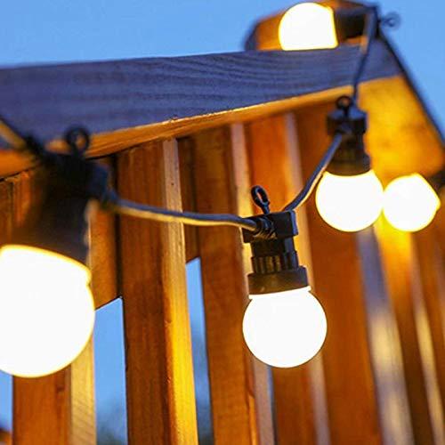 HJFGIRL Outdoor Garden String Lights LED,G50 LED Bulbs Garden Patio Outside String Lights,IP45 Festoon Lights For For Patio, Backyard, Party, Weeding, Xmas,White-15m