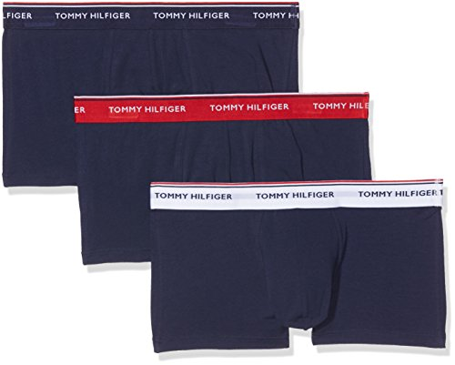 Tommy Hilfiger Herren Hüft-Shorts 3p Lr  Boxershorts Trunk,  3er Pack,  Mehrfarbig (Multi / Peacoat 904),  Large