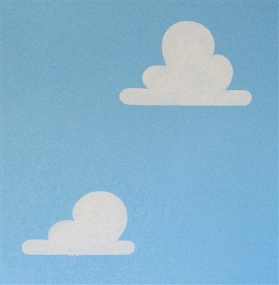 Cloud Stencils used toy Story Room