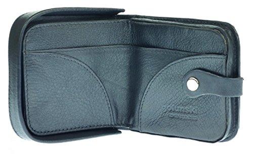 Herren Tablett Portemonnaie von Golunski, schwarz oder hellbraun, Stil no154a Schwarz Schwarz