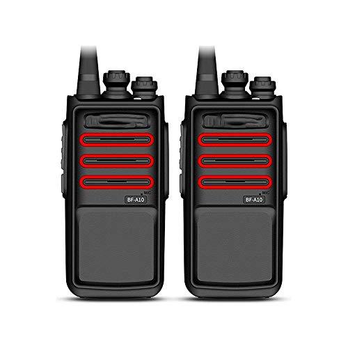 Z-Color 5W Alta Potencia de walkie talkies 16 de Largo Alcance Canal walkie Talkie, 3800mAh / Resistencia al Polvo y Gota/Intelligent Noise (2 Piezas, Negro)