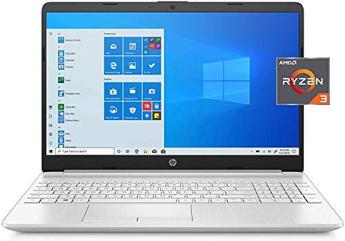 2021 HP 15.6'' HD Laptop PC AMD Dual-Core Ryzen 3 3250U 4GB DDR4 128GB SSD + 1TB HDD AMD Radeon Graphics USB-C HDMI WiFi AC RJ45 Bluetooth Webcam HP Fast Charge Windows 10 Home