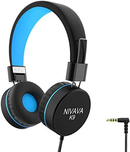 Nivava K9 Kids Headphones for Children Boys Girls Teens Wired 85dB Volume Limited Foldable Lightweight product image