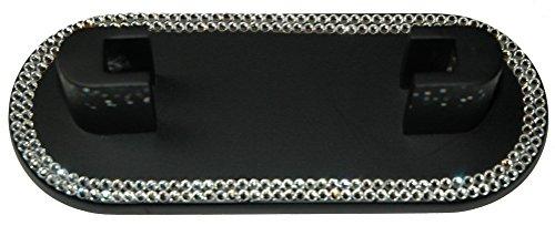 Schwarz Schreibtisch Top Metall Kartenhalter mit Swarovski Kristall Dekoration