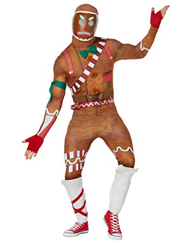 Spirit Halloween Adult Merry Marauder Fortnite Costume   Officially Licensed - S