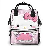 Mochila para pañales - Rosa Hello Kitty multifunción impermeable mochila de viaje maternidad pañales cambiantes bolsas
