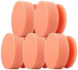 CLEANOFANT Polier Maus ORANGE Soft   5 Stück   Hand Polierpad Reinigungsschwamm Applikationsschwamm   für Wohnwagen, Wohnmobil, Caravan. Zum Reinigen mit Reiniger, Polieren mit Politur