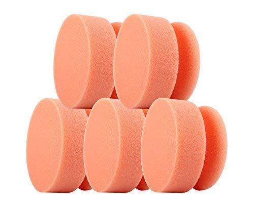 CLEANOFANT Polier-Maus ORANGE-Soft - 5 Stück - Hand-Polierpad Reinigungsschwamm Applikationsschwamm - für Wohnwagen, Wohnmobil, Caravan. Zum Reinigen mit Reiniger, Polieren mit Politur