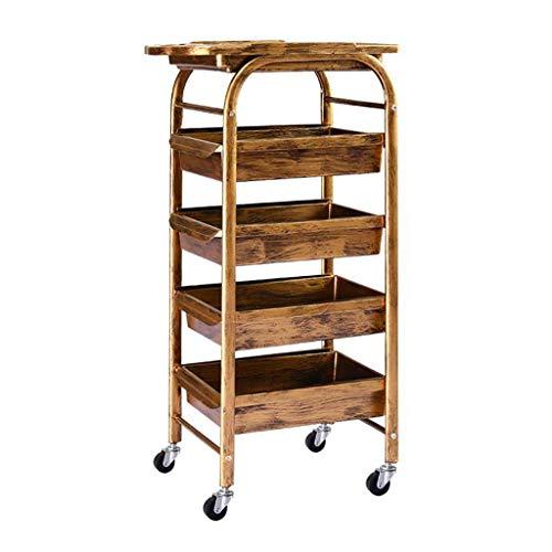 CENPEN Carrito de almacenamiento de 5 niveles para el pelo, carrito de almacenamiento (dorado, 30 x 44 x 80 cm)